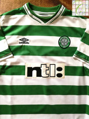 1999/00 Celtic Home Football Shirt (L)