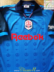 1995/96 Bolton Wanderers Away Football Shirt (M)