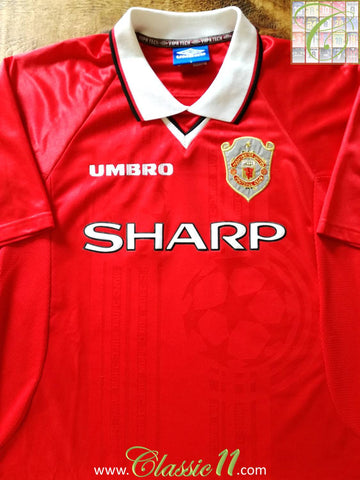1997/98 Man Utd Home Champions League Football Shirt (XL)