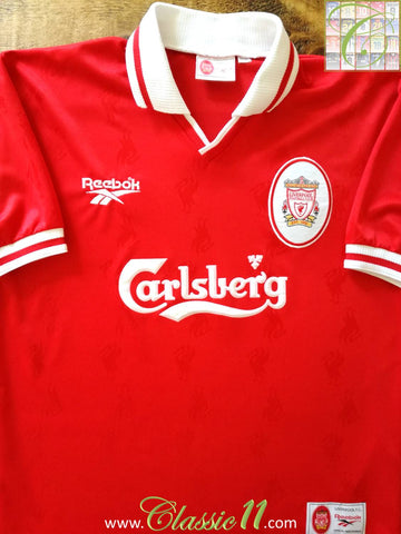1996/97 Liverpool Home Football Shirt (L)