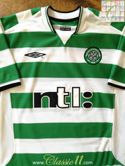 2001/02 Celtic Home Football Shirt (L)