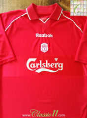 2000/01 Liverpool Home Football Shirt (M)