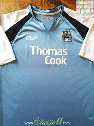 2006/07 Man City Home Football Shirt (XL)