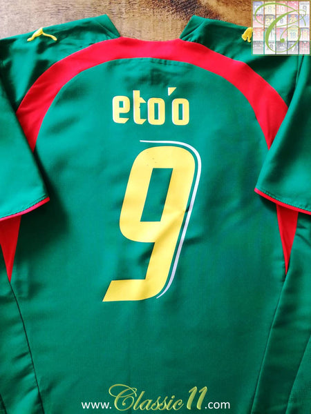 677245daed5 2014 world cup cameroon 9 etoo home soccer shirt kit
