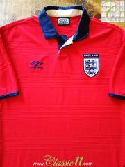 2000/01 England Away Football Shirt (L)