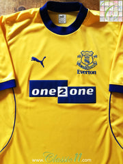 2000/01 Everton Away Football Shirt (XL)