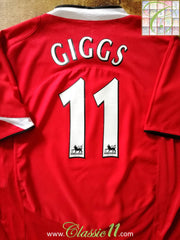 2004/05 Man Utd Home Premier League Football Shirt Giggs #11 (XL)