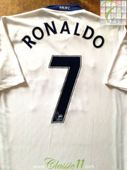 2008/09 Man Utd Away Premier League Football Shirt Ronaldo #7 (S)