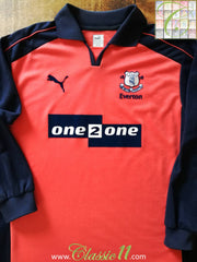 2001/02 Everton 3rd Football Shirt. (L)