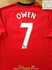 2009/10 Man Utd Home Premier League Football Shirt Owen #7 (M)
