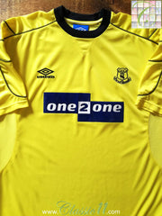1999/00 Everton Away Football Shirt (XL)