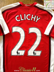 2008/09 Arsenal Home Premier League Football Shirt Clichy #22 (S)