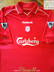2000/01 Liverpool Home Premier League Football Shirt (L)