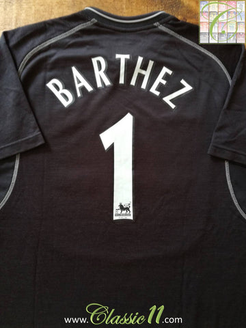 2000/01 Man Utd Goalkeeper Premier League Football Shirt Barthez #1 (L)