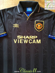 1993/94 Man Utd Away Football Shirt (M)