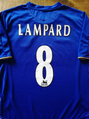 2005/06 Chelsea Home Premier League Football Shirt Lampard #8 (XL)