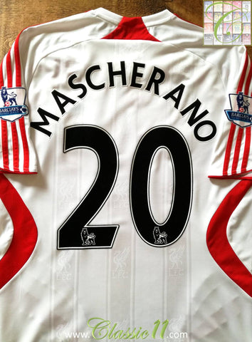 2007/08 Liverpool Away Premier League Football Shirt Mascherano #20 (XL)