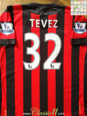 2011/12 Man City Away Premier League Football Shirt Tevez #32 (XL)