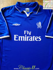 2001/02 Chelsea Home Football Shirt (M)