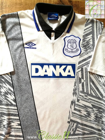 1995/96 Everton Away Football Shirt (XL)