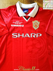 1999/00 Man Utd Home Champions League Football Shirt (XL)