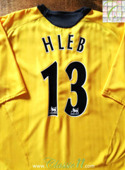 2006/07 Arsenal Away Premier League Football Shirt Hleb #13 (XL)