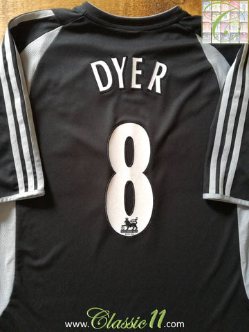 2003/04 Newcastle United Away Premier League Football Shirt Dyer #8 (XL)