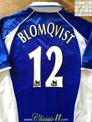 2001/02 Everton Home Premier League Football Shirt Blomqvist #12 (S)