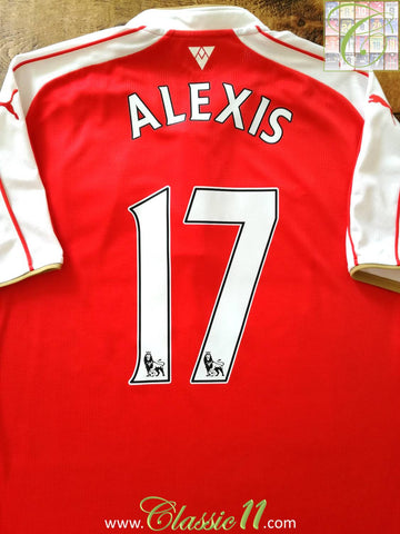 2015/16 Arsenal Home Premier League Football Shirt Alexis #17 (XL)