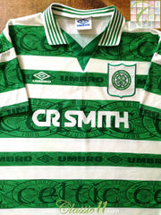 1995/96 Celtic Home Football Shirt (L)