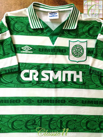 1995/96 Celtic Home Football Shirt (XL)