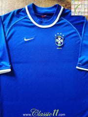 2000/01 Brazil Away Football Shirt (XL)