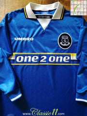 1997/98 Everton Home Football Shirt. (L)