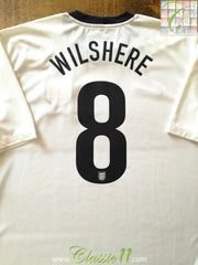 2013 England 150th Anniversary Home Football Shirt Wilshire #8 (XL)