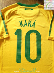2010/11 Brazil Home Football Shirt Kaka #10 (B)