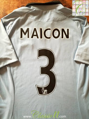 2012/13 Man City Home Premier League Football Shirt Maicon #3 (L)