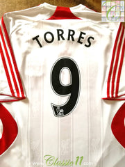 2007/08 Liverpool Away Premier League Football Shirt Torres #9 (M)