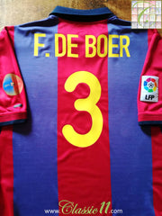 2000/01 Barcelona Home La Liga Football Shirt Frank De Boer #3 (XL)