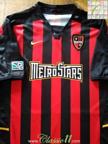 2003/04 New York MetroStars Home MLS Football Shirt (XL)