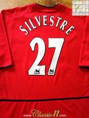 2002/03 Man Utd Home Premier League Football Shirt Silvestre #27 (XXL)