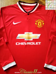 2014/15 Man Utd Home Football Shirt. (L)