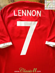2010/11 England Away Football Shirt Lennon #7 (S)