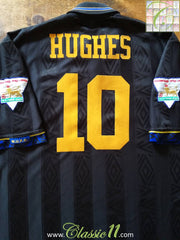 1993/94 Man Utd Away Premier League Football Shirt Hughes #10 (XL)