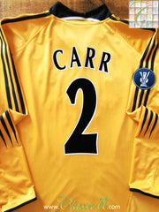 2004/05 Newcastle United Third Uefa Cup Football Shirt Carr #2 (L)