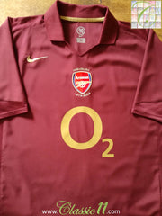 2005/06 Arsenal Home Football Shirt (XXL)