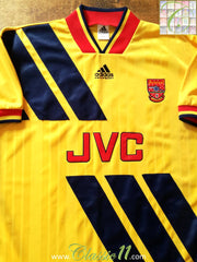 1993/94 Arsenal Away Football Shirt (XL)