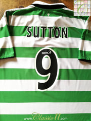 2004/05 Celtic Home SPL Football Shirt Sutton #9 (L)