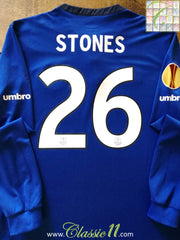 2014/15 Everton Home Europa League Football Shirt Stones #20 (XL)