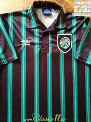 1992/93 Celtic Away Football Shirt (L)