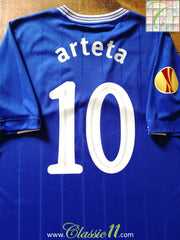 2009/10 Everton Home Europa League Football Shirt Arteta #10 (XL)